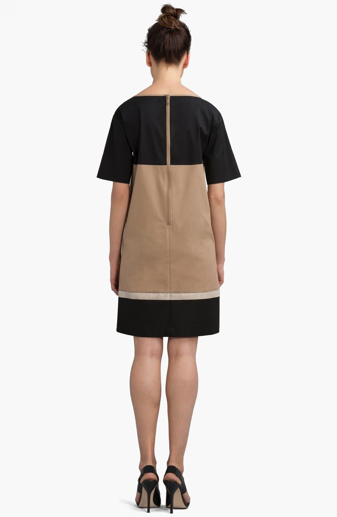 Alternate Image 2  - Lafayette 148 New York 'Evita' Colorblock Shift Dress