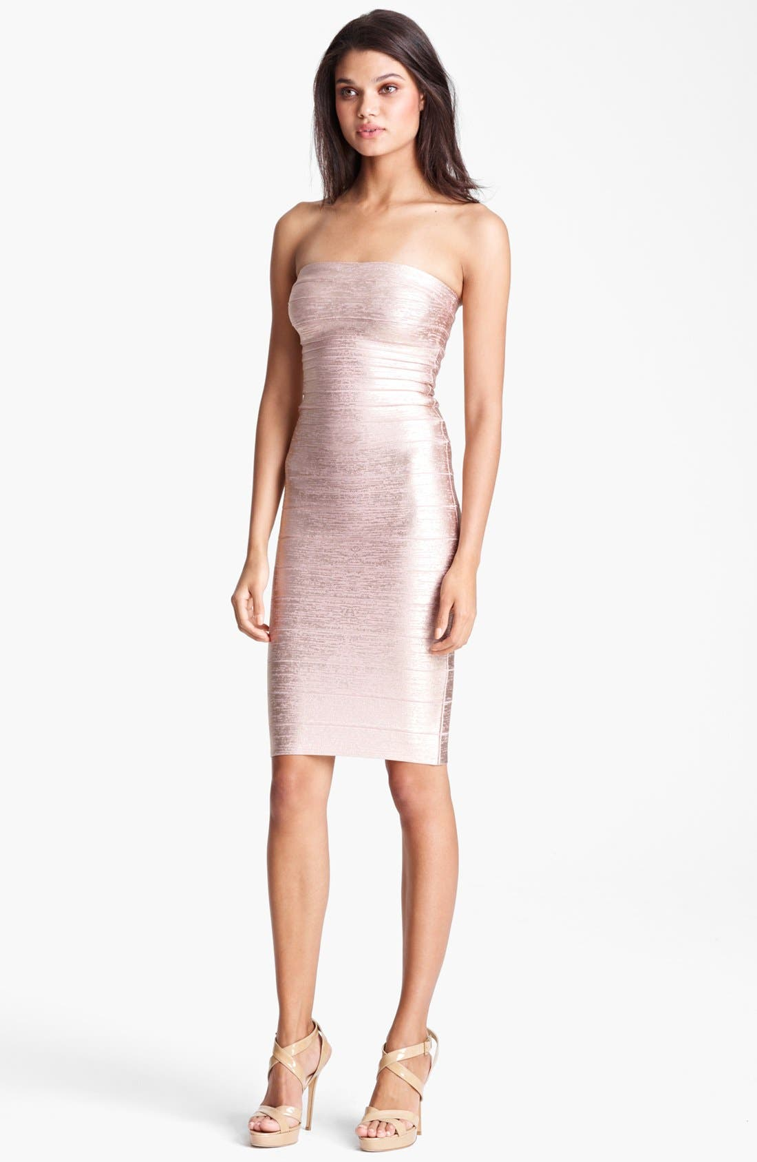 Alternate Image 1 Selected - Herve Leger Metallic Bandage Dress