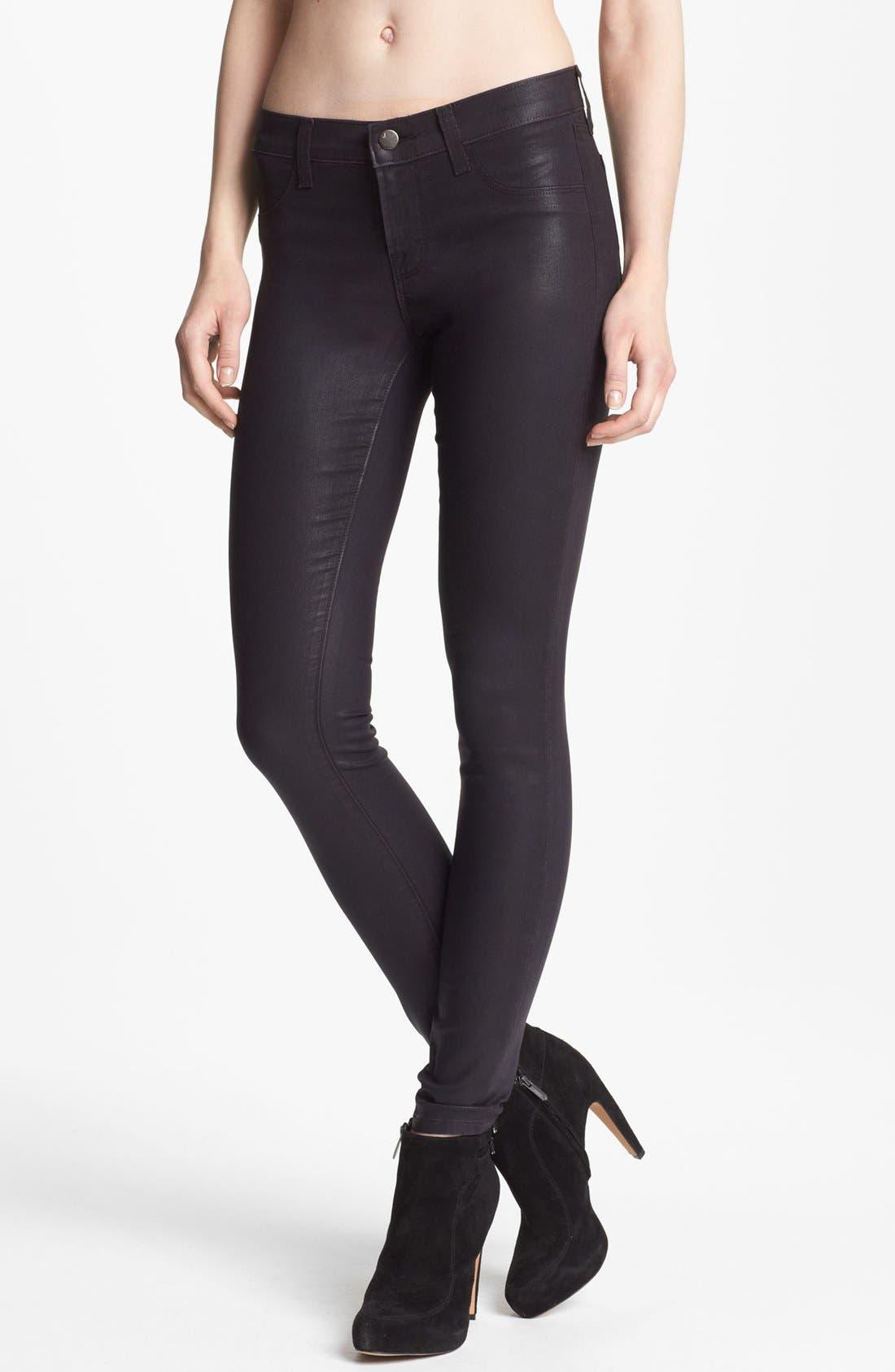Main Image - J Brand Coated Super Skinny Jeans (Coated Opalite)
