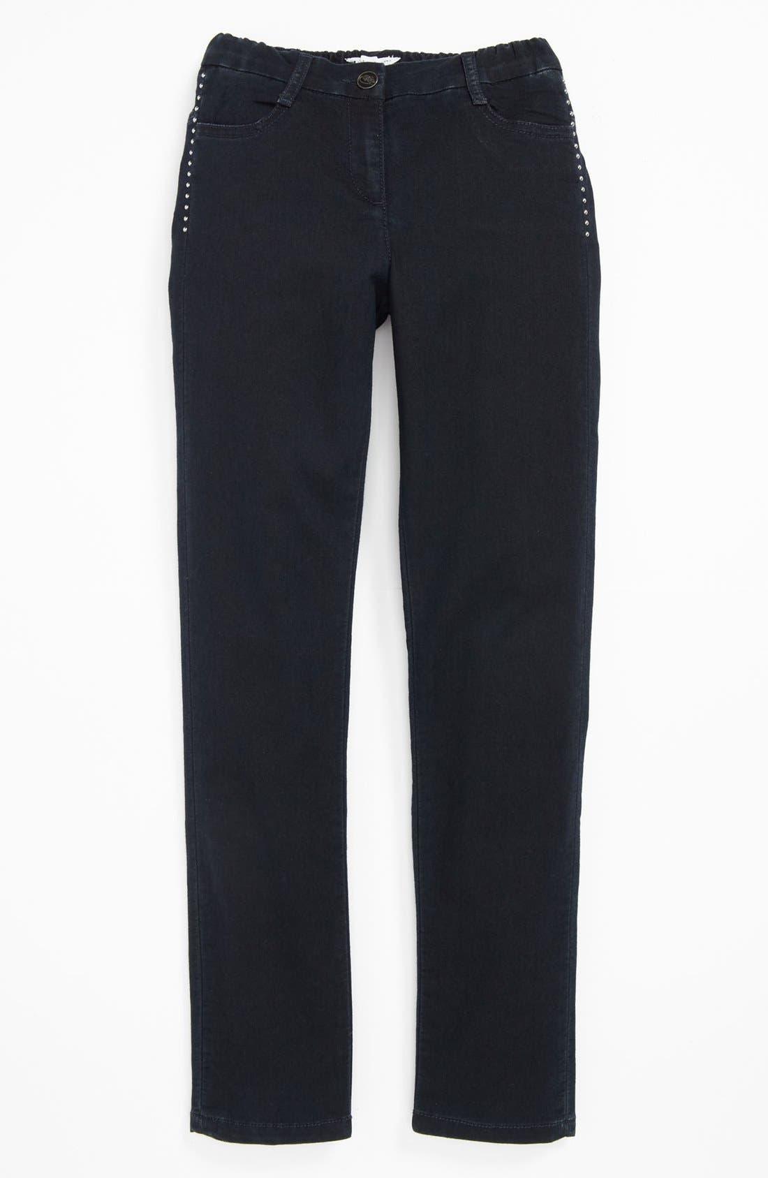 Main Image - LITTLE MARC JACOBS Denim Trousers (Little Girls & Big Girls)