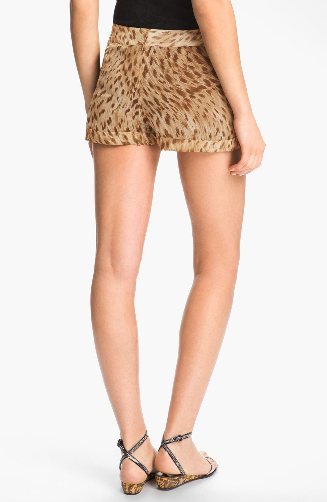 Alternate Image 2  - Haute Hippie Leopard Print Shorts
