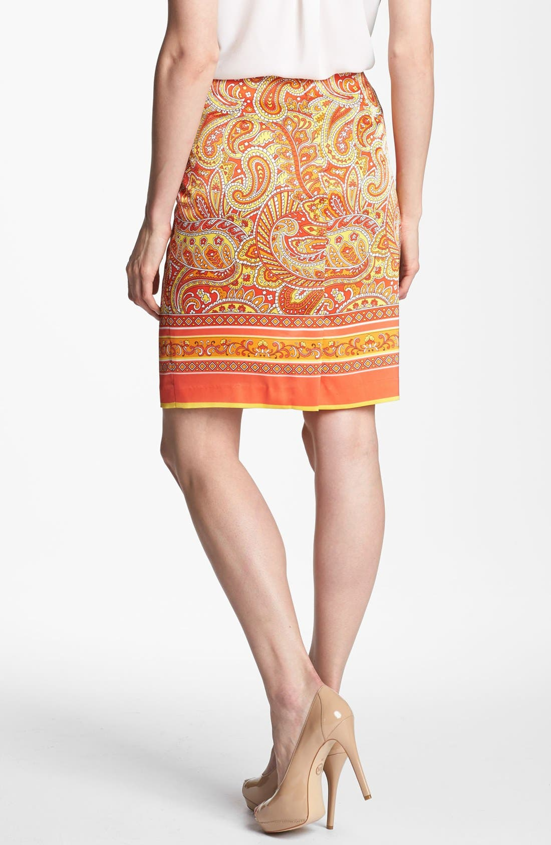 Alternate Image 2  - Vince Camuto Bordered Paisley Skirt