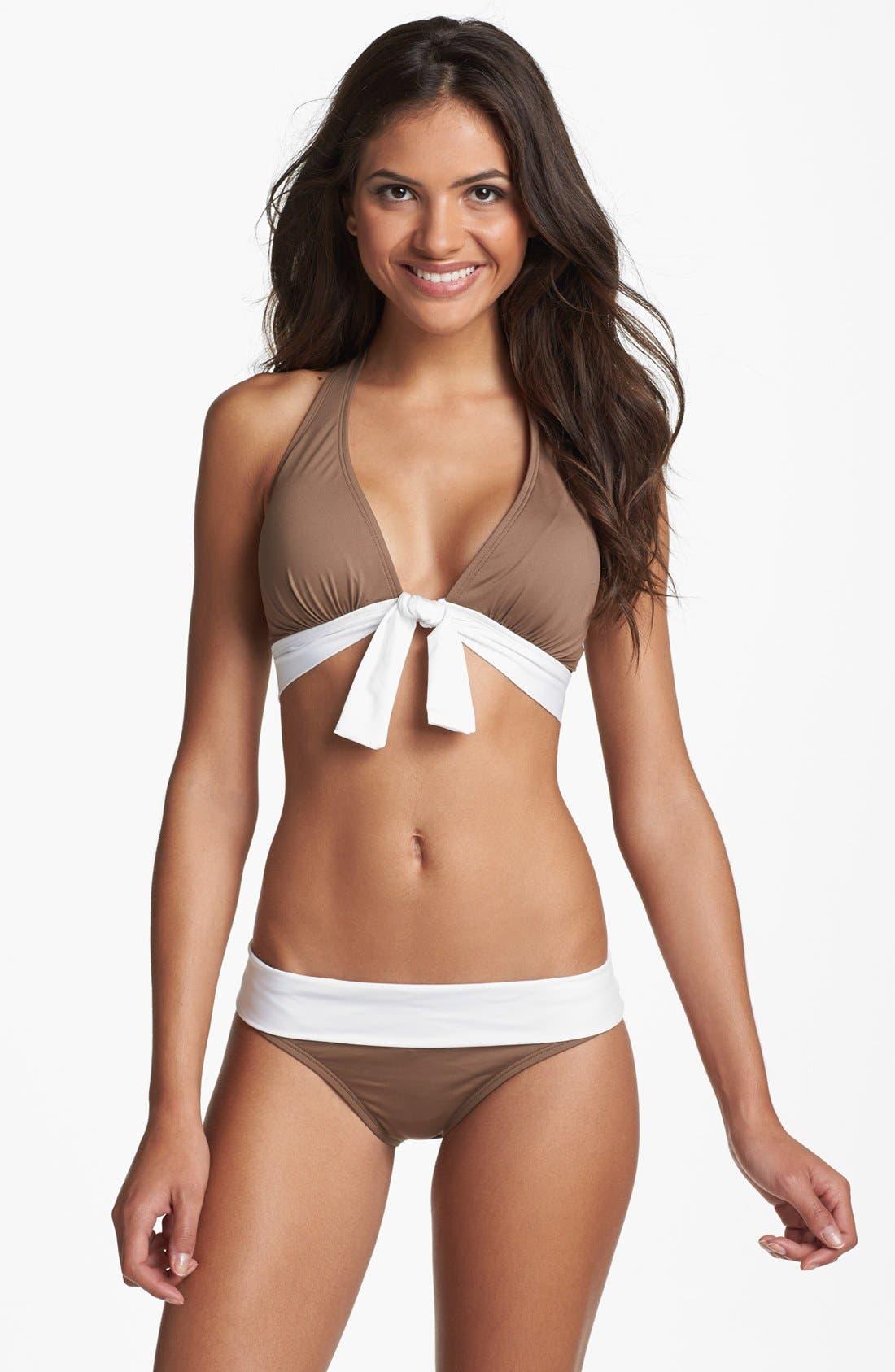 Alternate Image 3  - Tommy Bahama 'Deck Piping' Halter Bikini Top