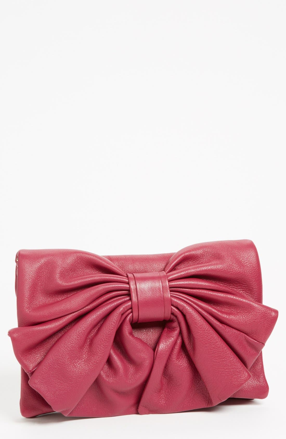 Alternate Image 1 Selected - RED Valentino 'Bow' Leather Clutch