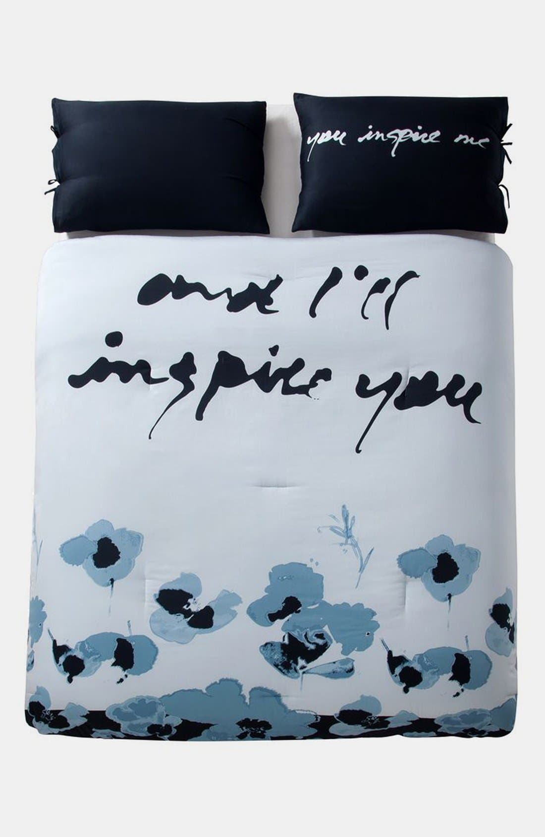 Alternate Image 1 Selected - kensie 'Blue Poppy' Duvet Set (Online Only)