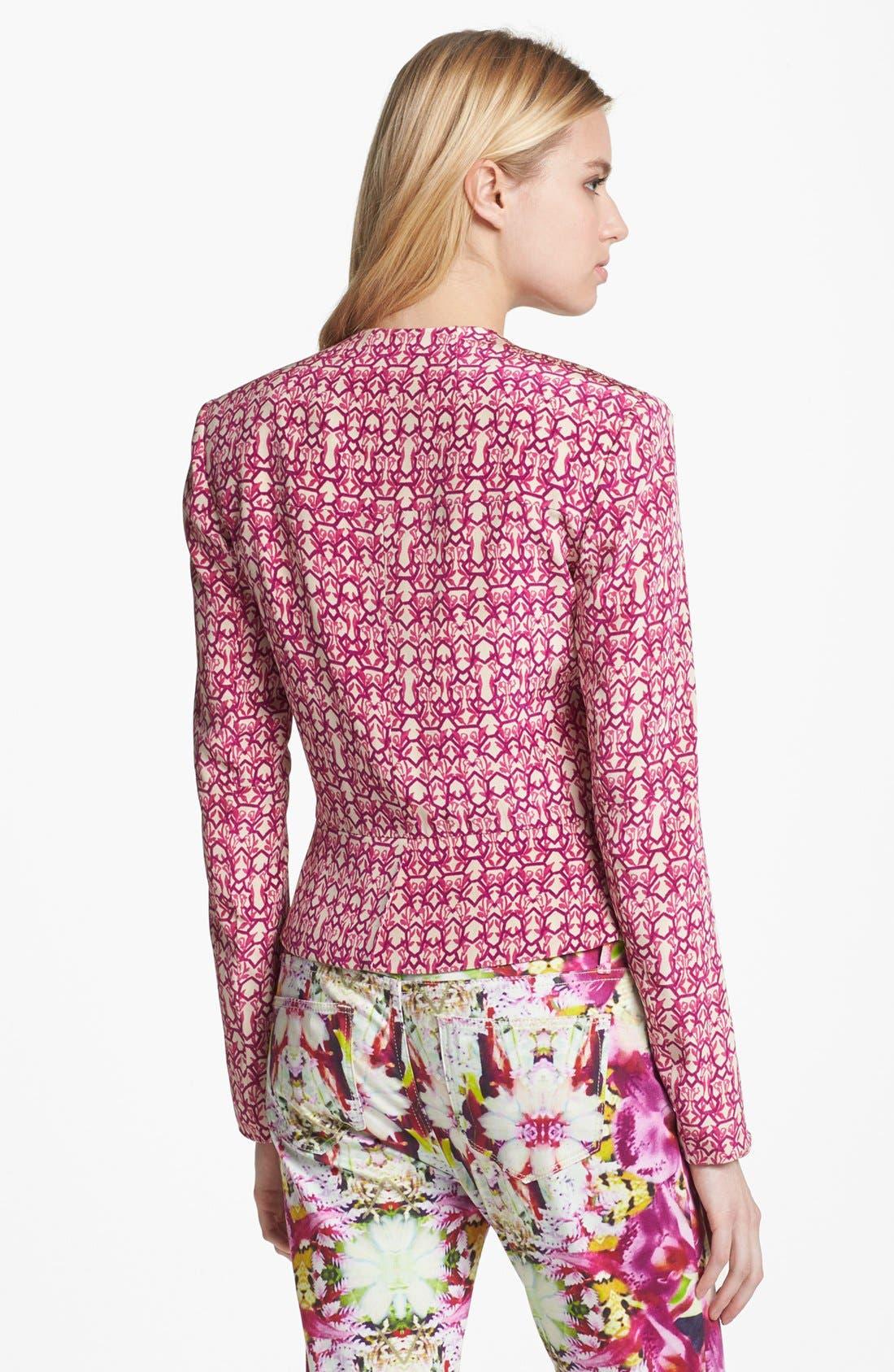 Alternate Image 2  - Rachel Roy 'Abstract Geo' Crop Silk Blazer