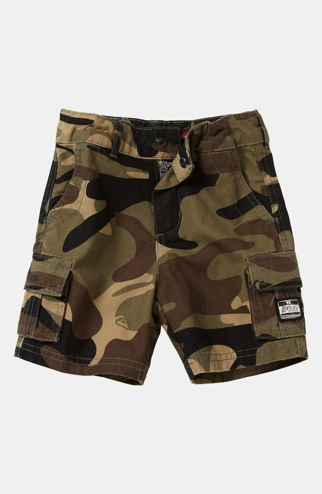 Alternate Image 1 Selected - Quiksilver Camo Shorts (Baby)