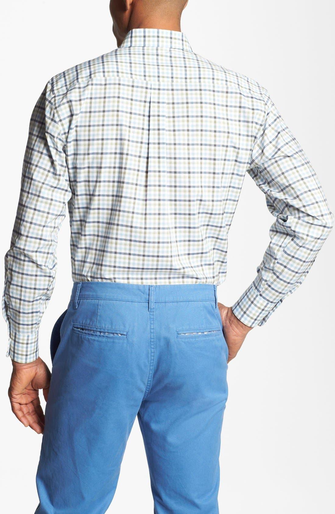 Alternate Image 2  - Peter Millar Check Sport Shirt (Tall)
