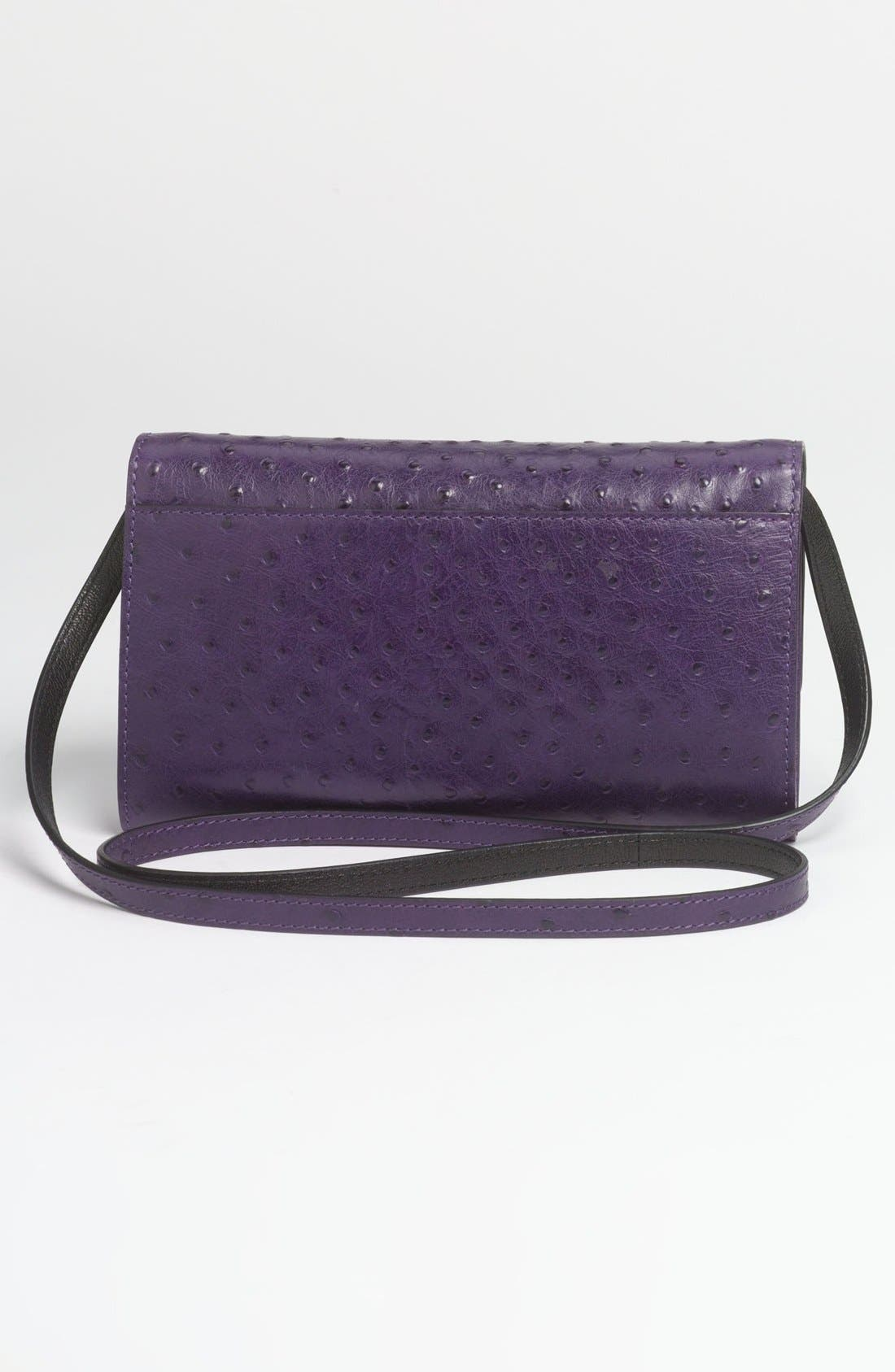Alternate Image 4  - Michael Kors 'Gia' Ostrich Embossed Leather Clutch