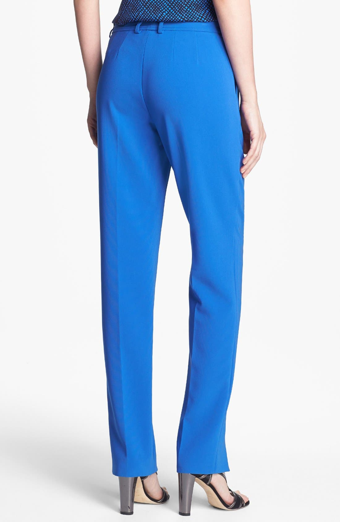 Alternate Image 2  - St. John Collection 'Jennifer' Crepe Marocain Pants
