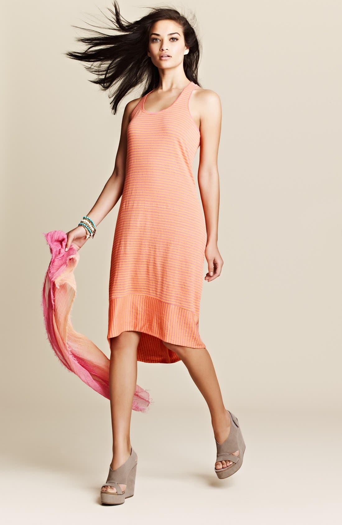 Alternate Image 6  - Eileen Fisher Racerback Linen Jersey Dress