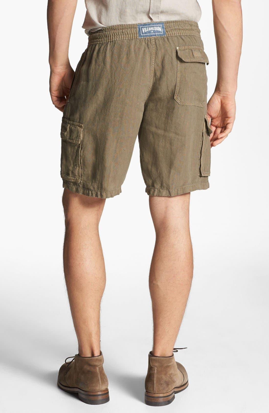 Alternate Image 2  - Vilebrequin Linen Cargo Bermuda Shorts