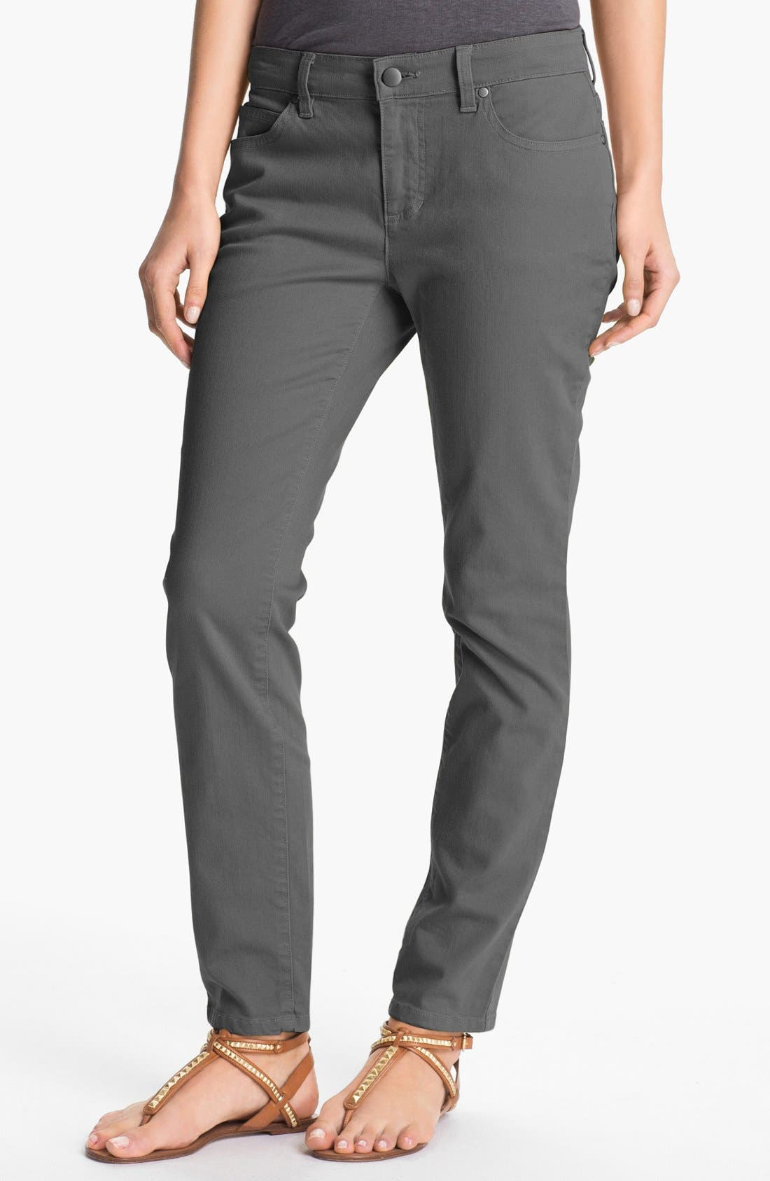 Alternate Image 1 Selected - Eileen Fisher Skinny Ankle Jeans (Regular & Petite)
