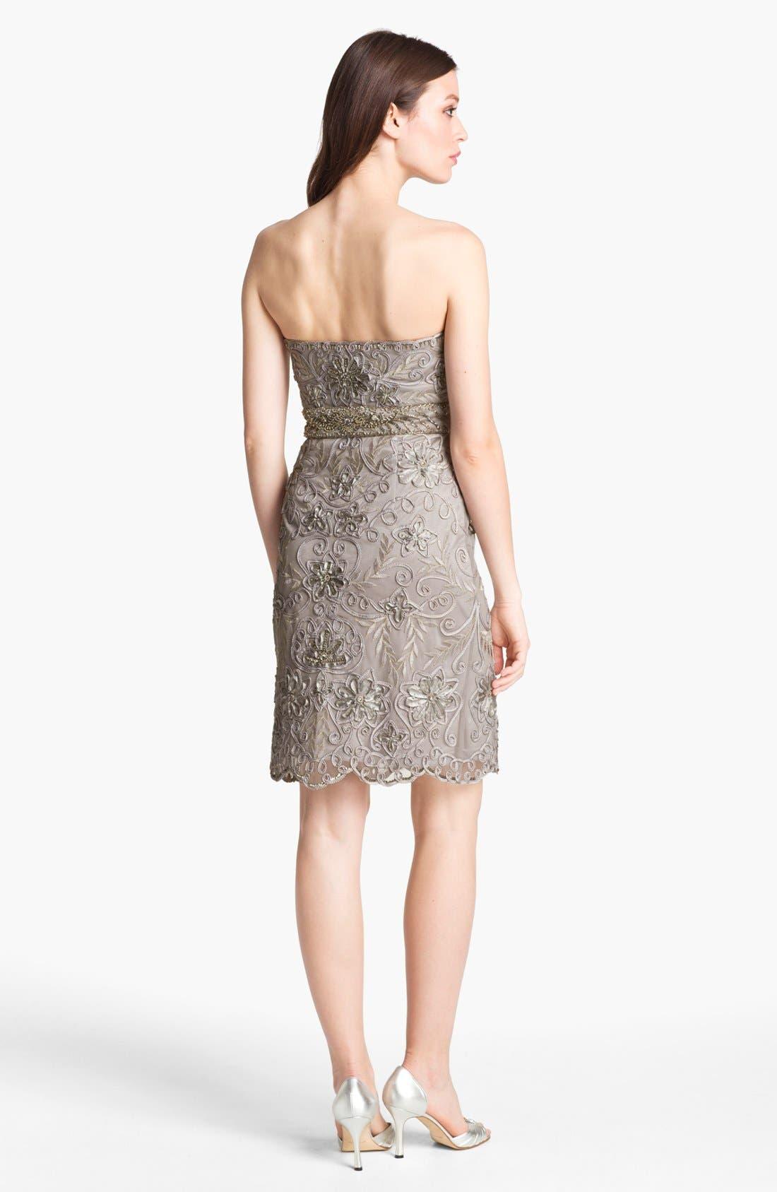 Alternate Image 2  - Sue Wong Embellished Strapless Sheath Dress