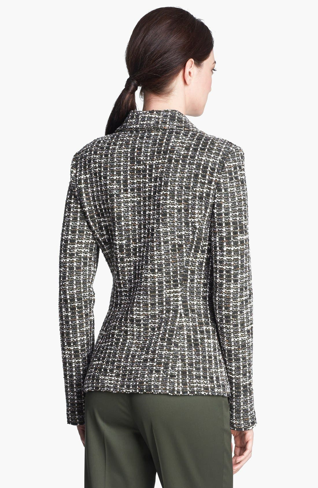 Alternate Image 4  - St. John Collection Loden Check Tweed Knit Jacket