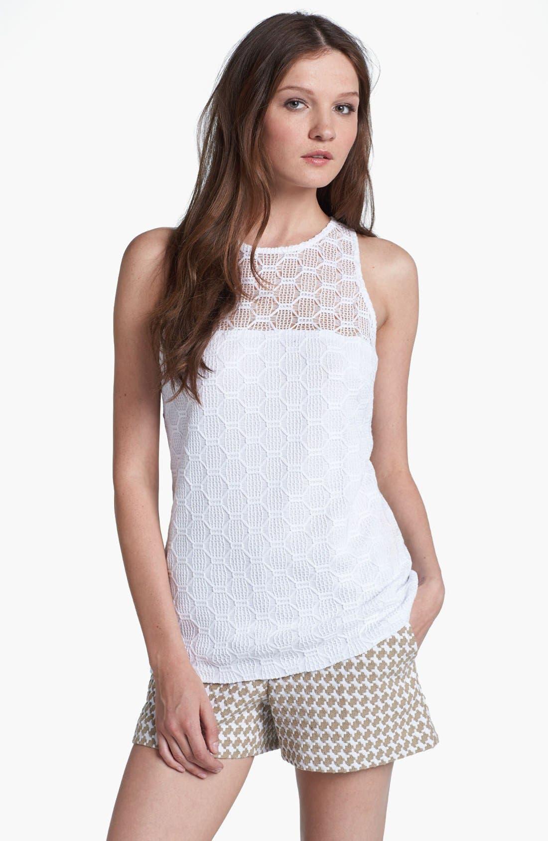 Alternate Image 1 Selected - Trina Turk 'Deanna' Hexagon Open Lace Top