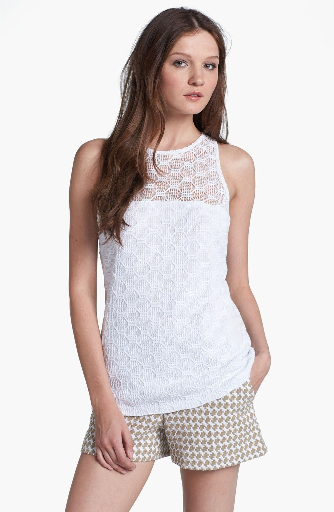 Main Image - Trina Turk 'Deanna' Hexagon Open Lace Top