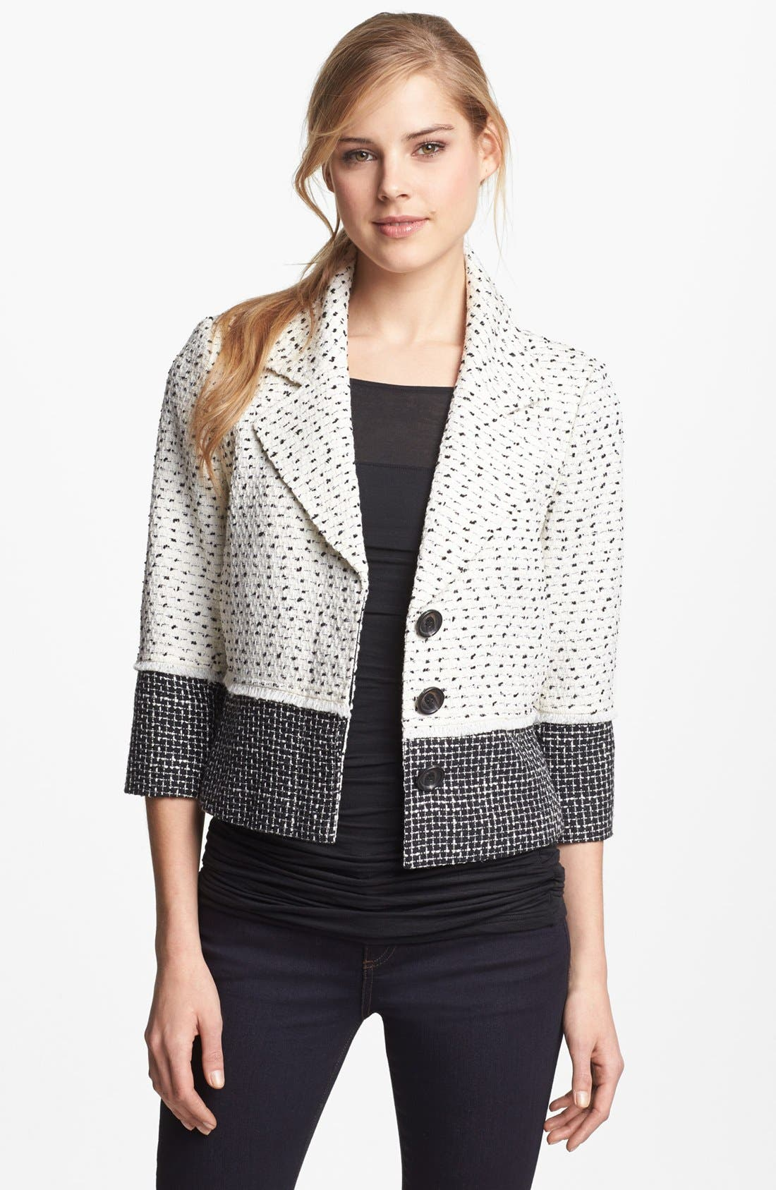Alternate Image 1 Selected - Halogen® Colorblock Tweed Jacket