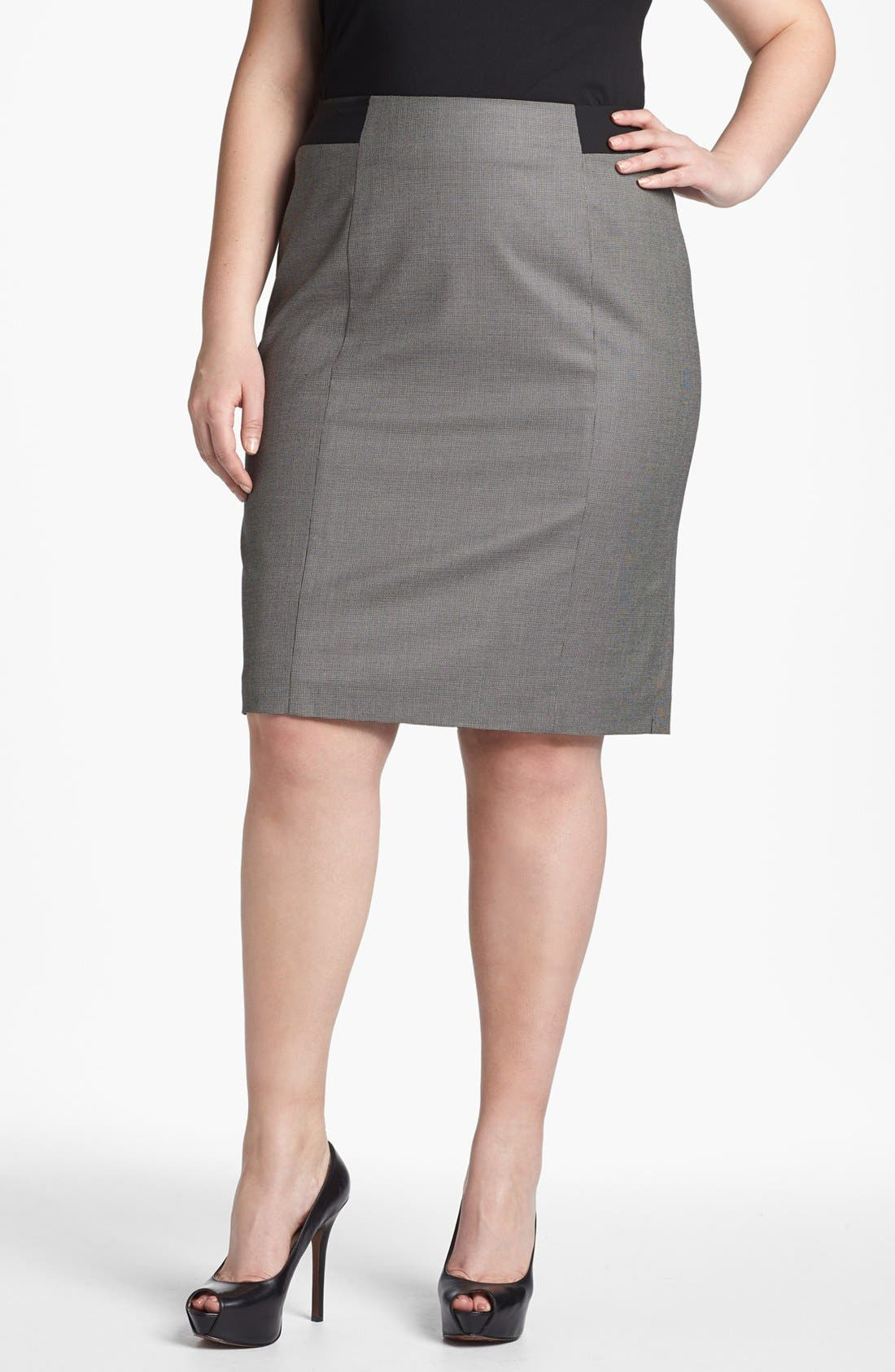 Alternate Image 1 Selected - Sejour 'Marcy' Pencil Skirt (Plus Size)