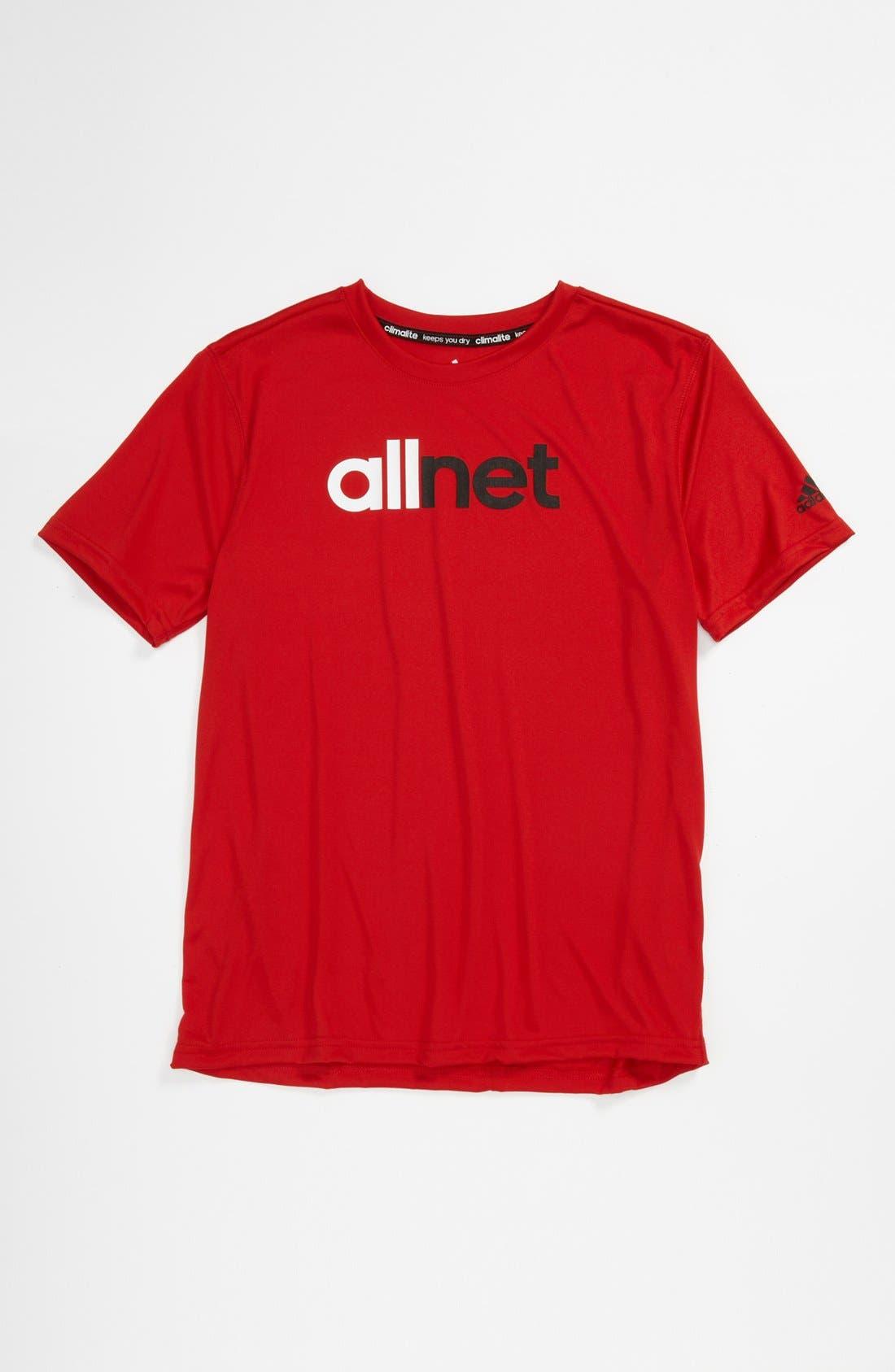 Alternate Image 1 Selected - adidas 'All Net' T-shirt (Big Boys)