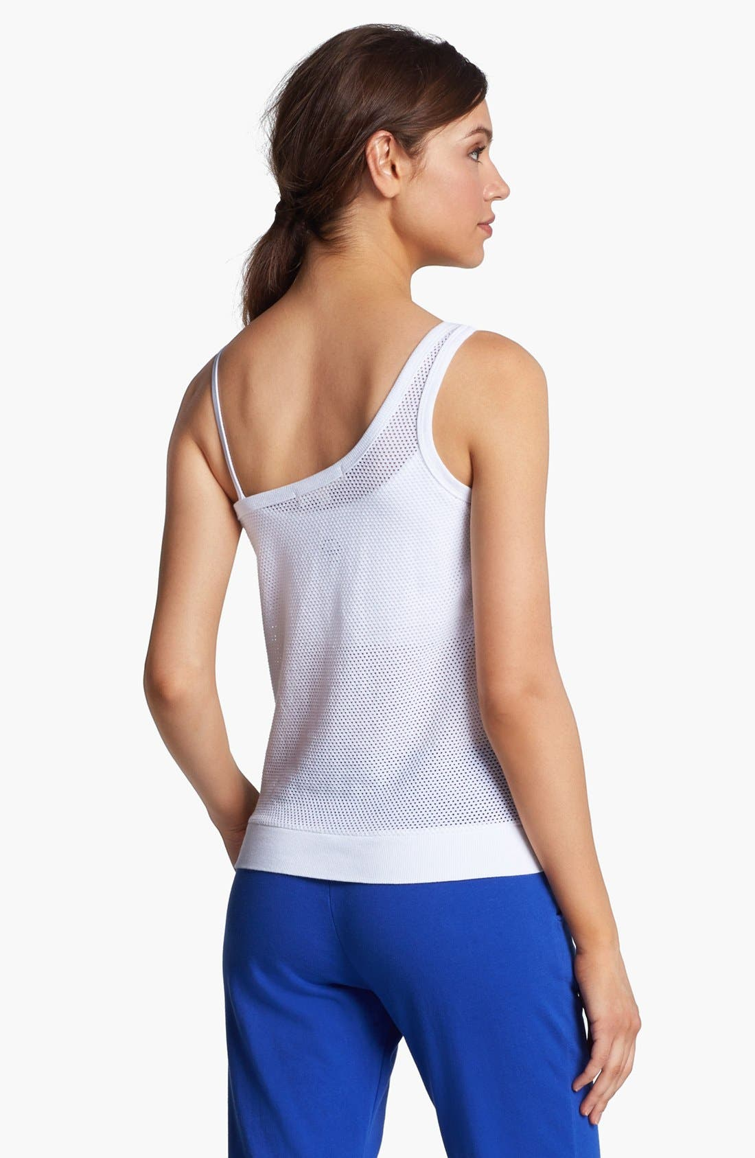 Alternate Image 2  - Solow One Shoulder Mesh Tank