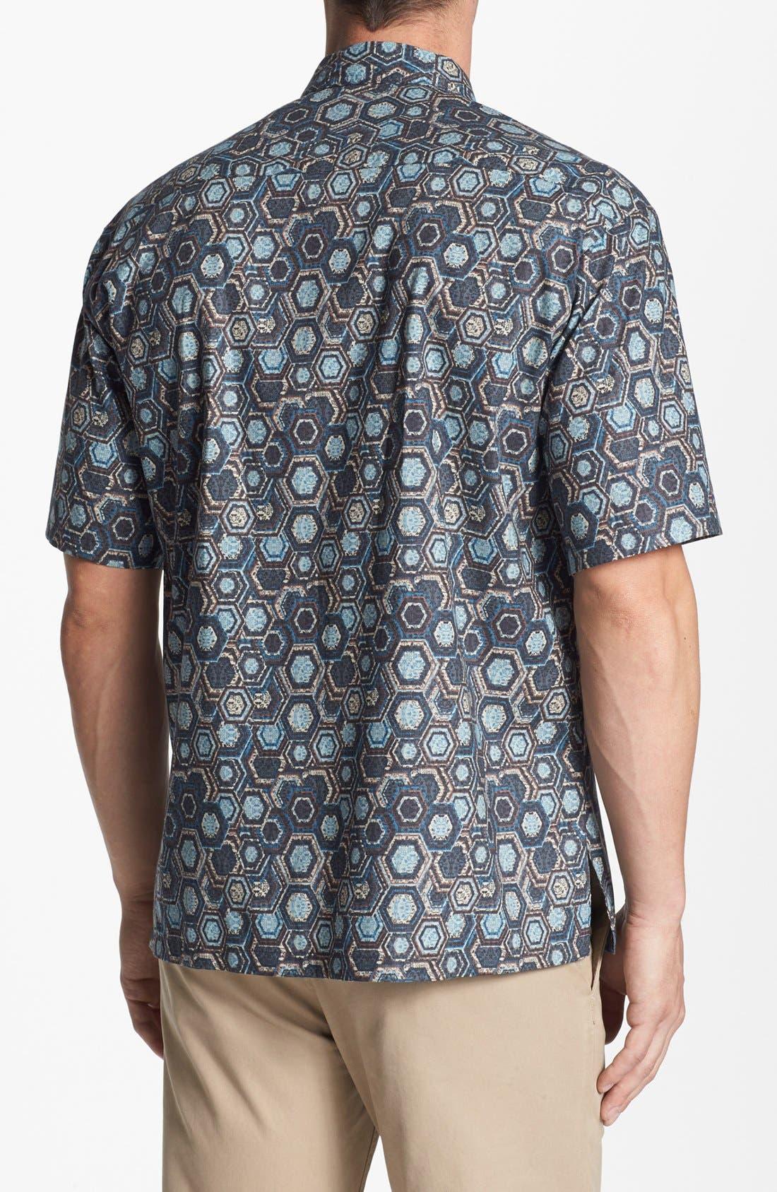 Alternate Image 2  - Tori Richard 'Honeycomb II' Cotton Lawn Campshirt