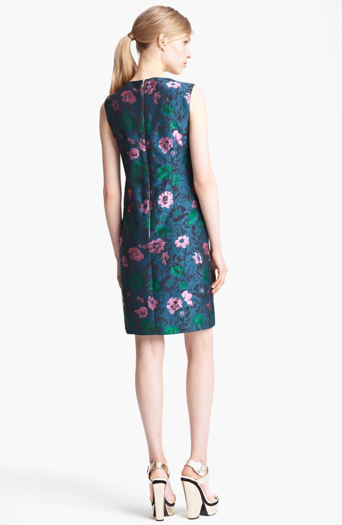 Alternate Image 2  - Erdem Sleeveless Floral Jacquard Shift Dress