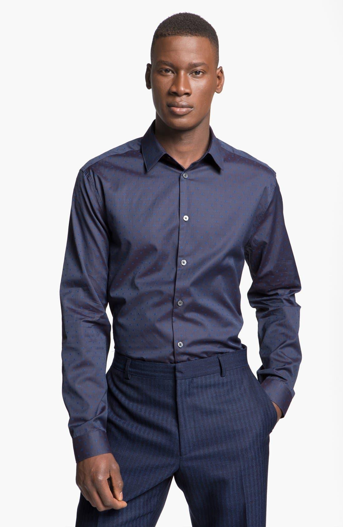 Alternate Image 1 Selected - Paul Smith London Slim Fit Dot Print Dress Shirt