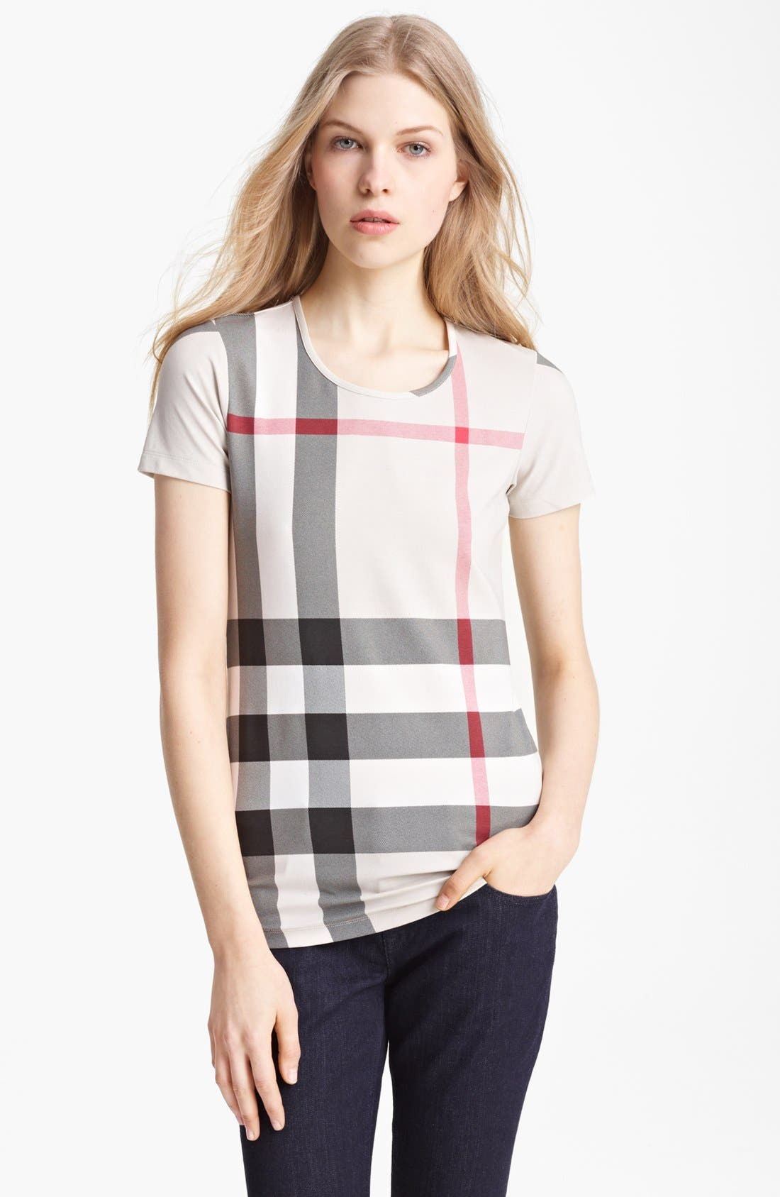 Alternate Image 1 Selected - Burberry Brit Check Print Top