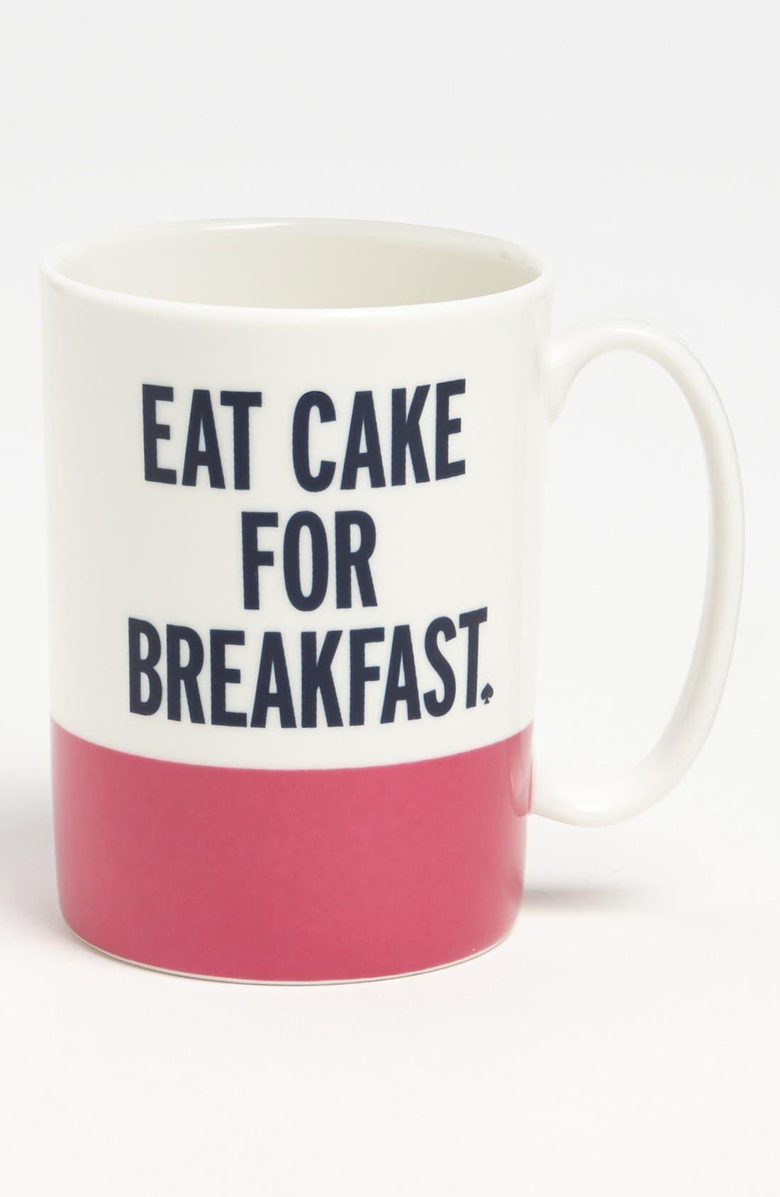 Alternate Image 1 Selected - kate spade new york 'things we love™ - eat cake for breakfast' mug