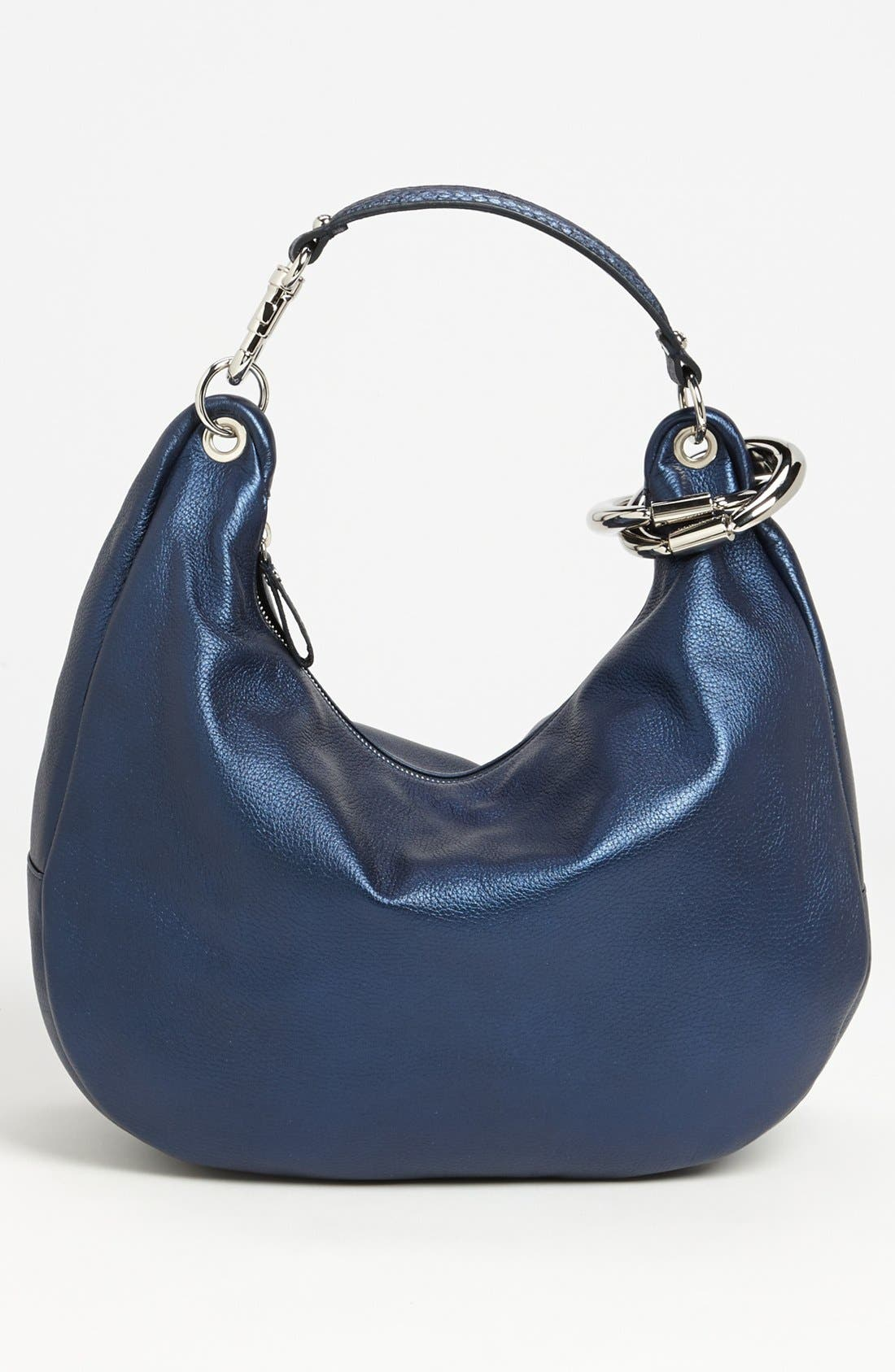 Alternate Image 4  - Jimmy Choo 'Solar - Large' Pearlized Metallic Leather Hobo