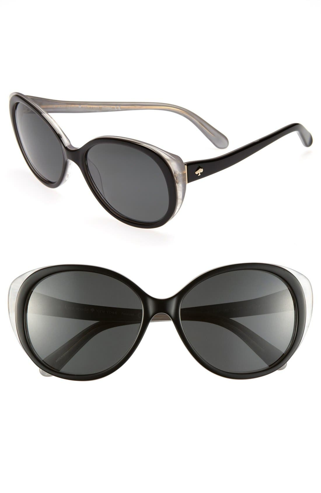 Main Image - kate spade new york 'finola' 56mm polarized sunglasses