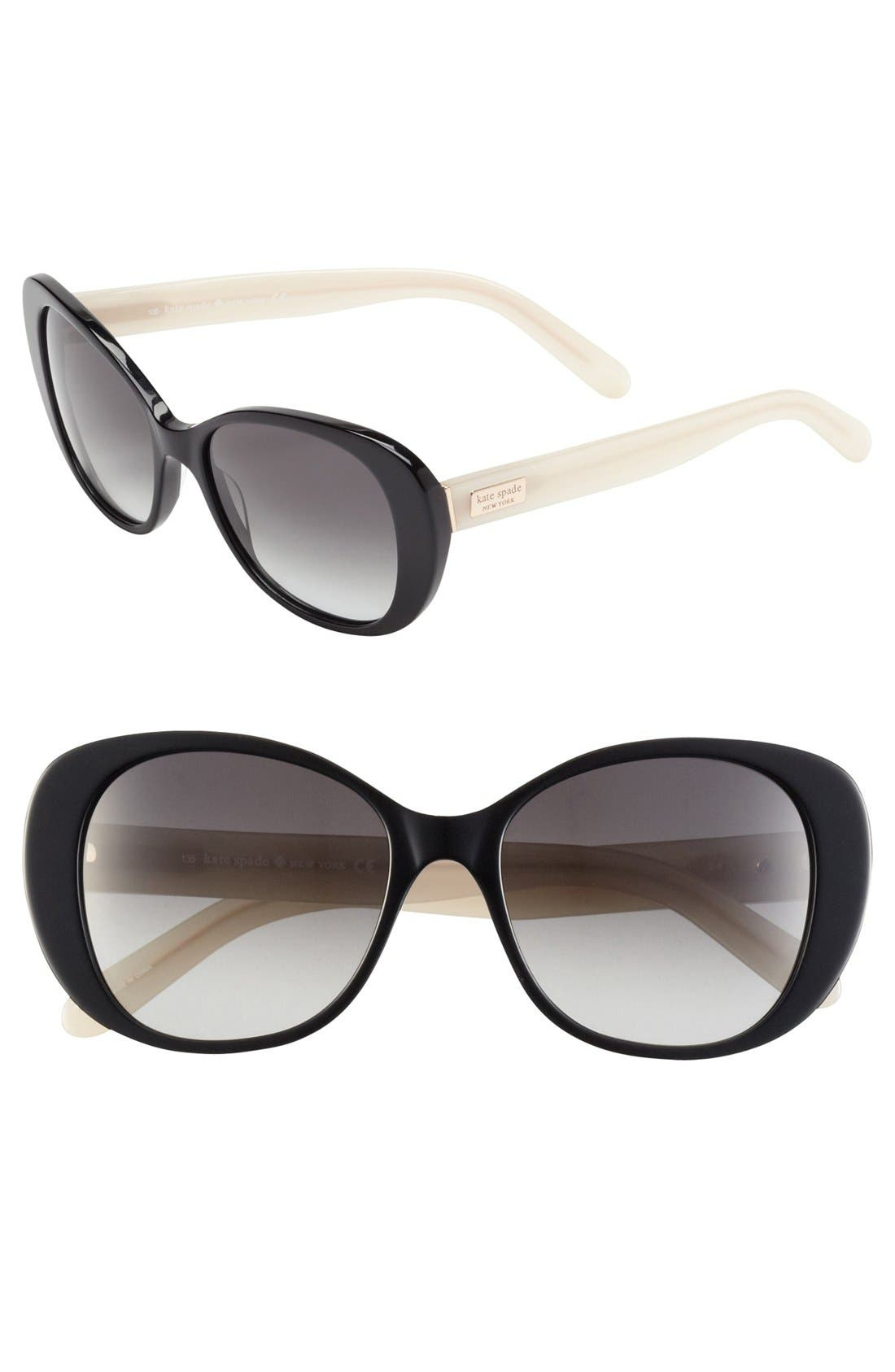 Alternate Image 1 Selected - kate spade new york 'emery' 52mm sunglasses