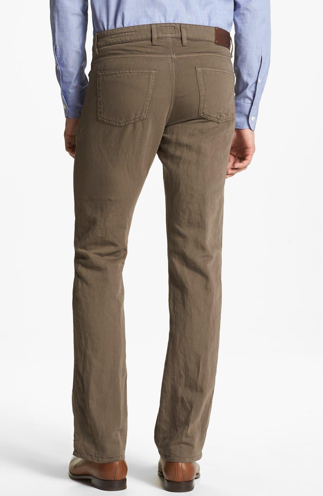 Alternate Image 2  - Z Zegna Slim Straight Leg Linen Blend Pants