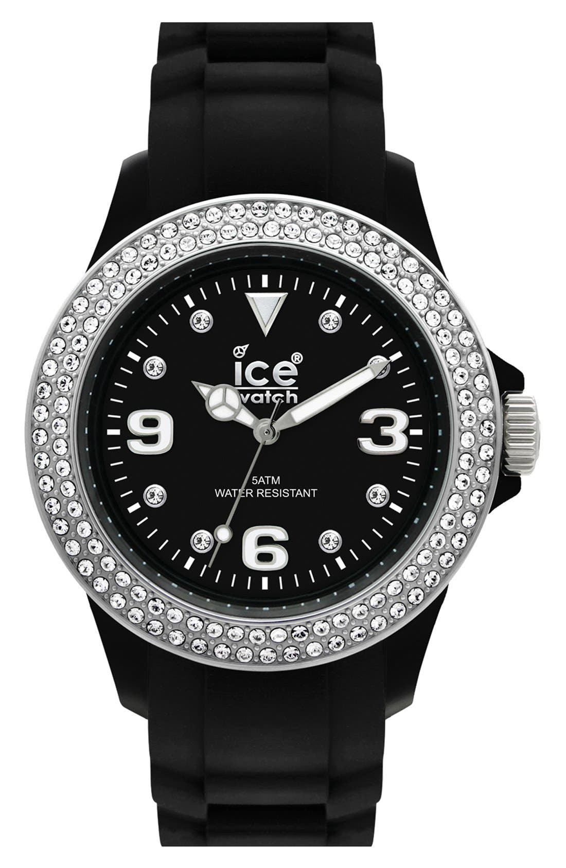 Alternate Image 1 Selected - ICE Watch 'Ice-Sili - Forever' Silicone Bracelet Watch, 48mm