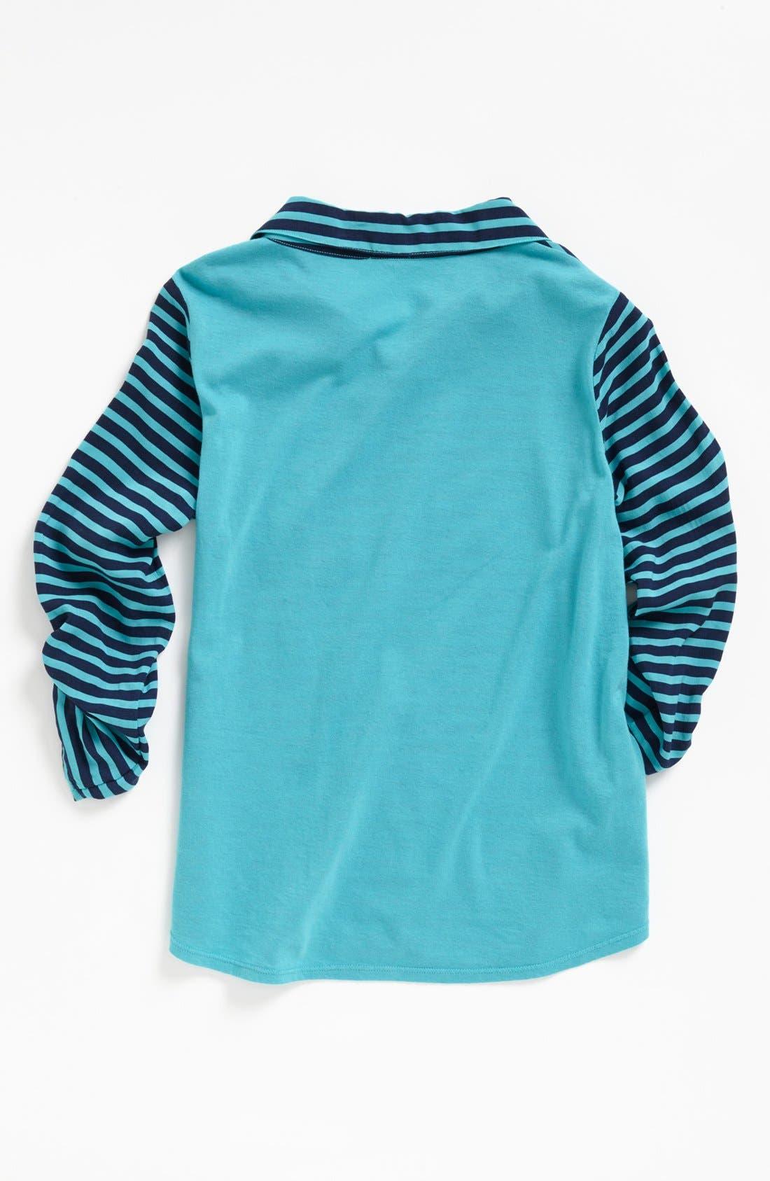 Alternate Image 2  - Splendid Stripe Rugby Shirt (Big Girls)