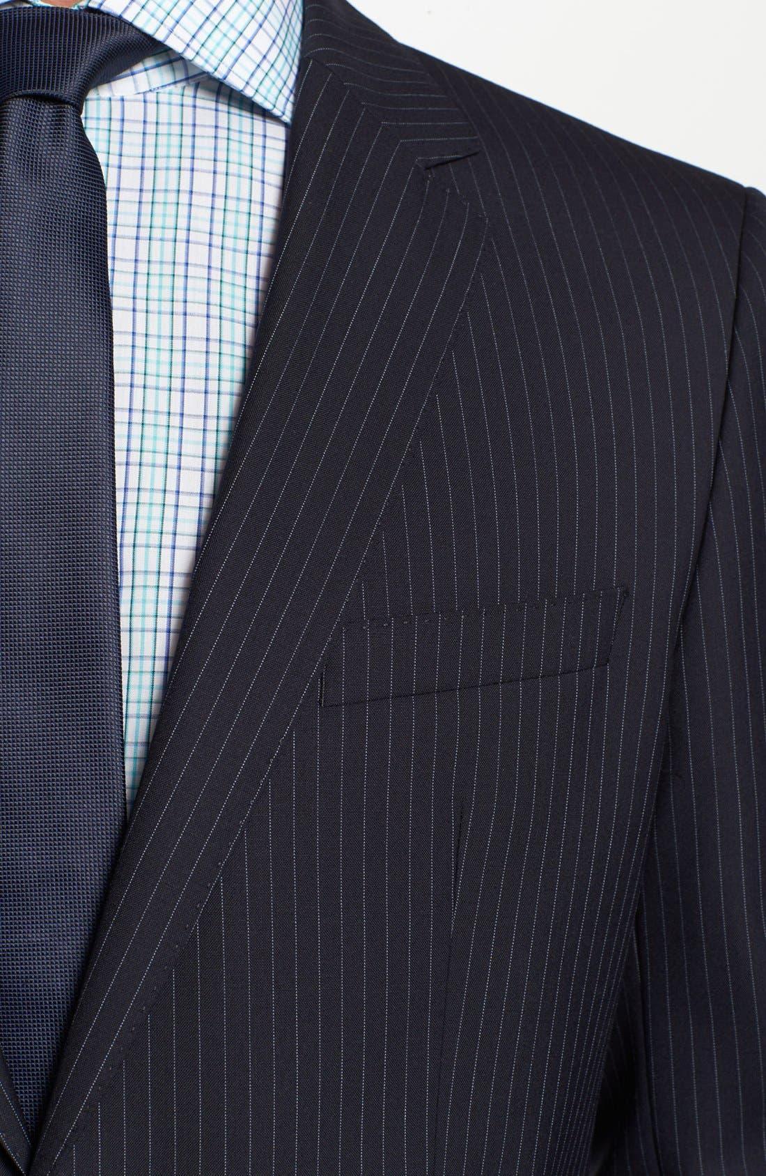 Alternate Image 2  - BOSS Black 'James/Sharp' Trim Fit Stripe Wool Suit