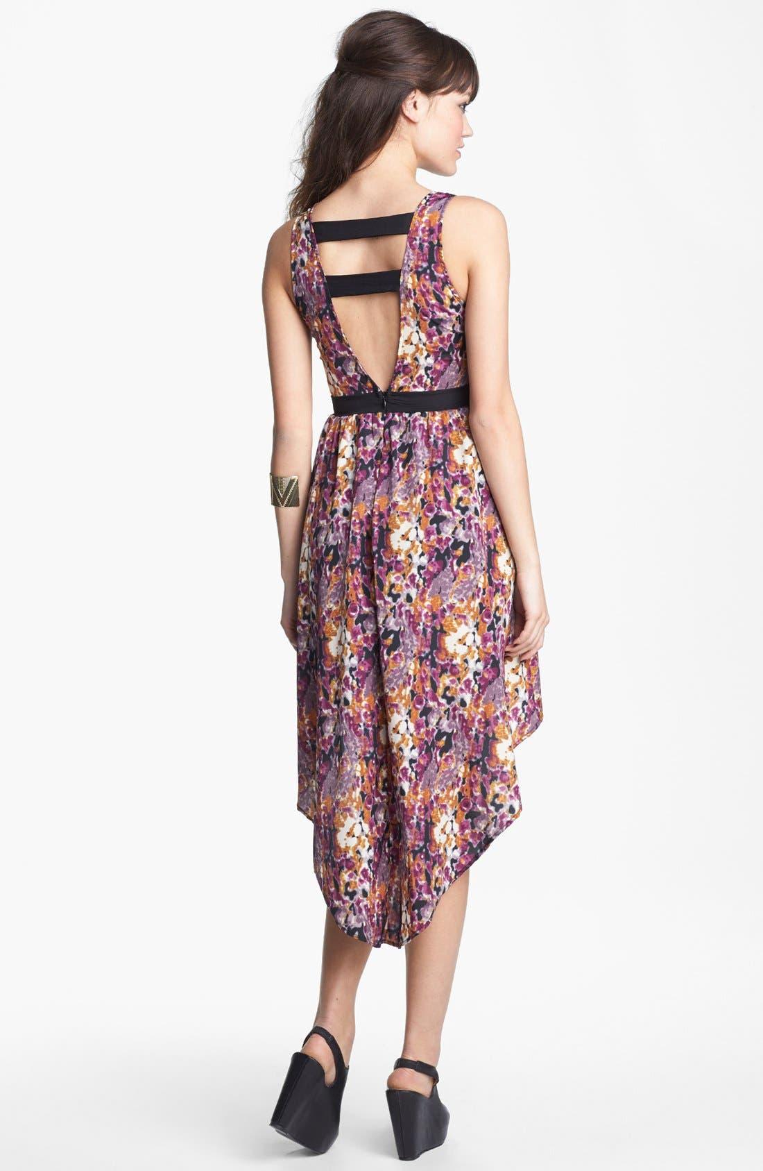 Alternate Image 2  - Lush Cutout High/Low Dress (Juniors) (Online Only)