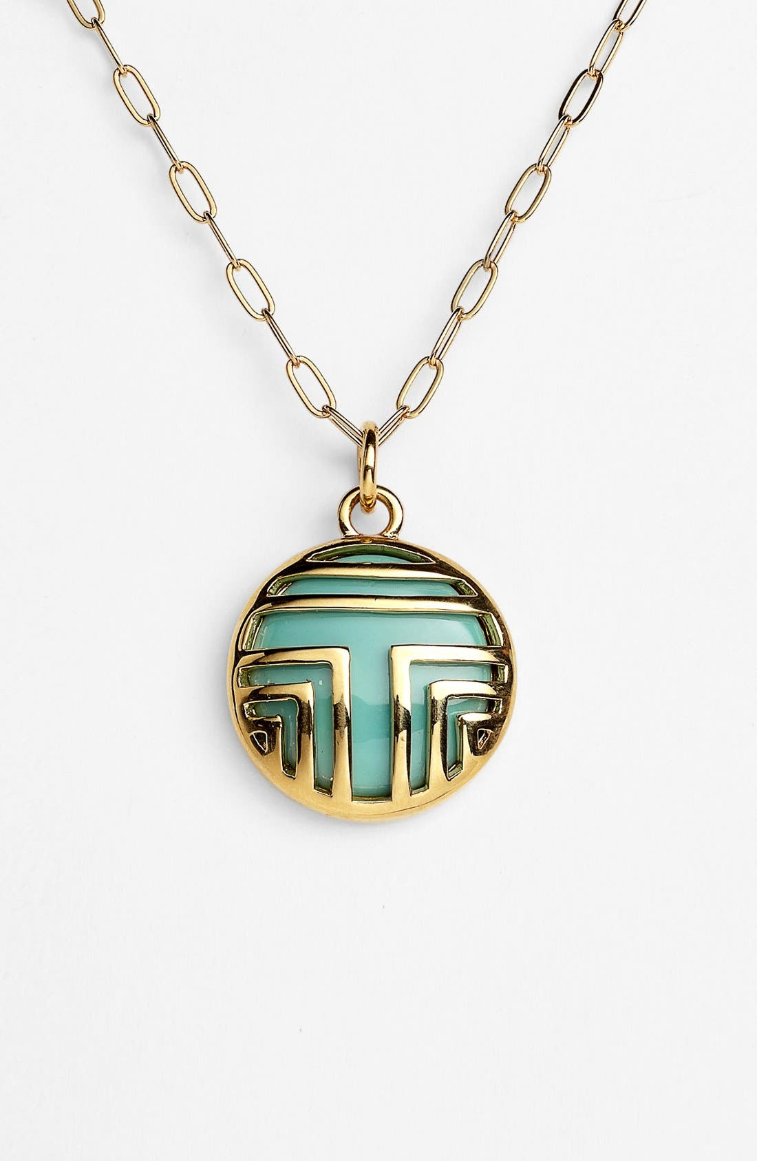 Alternate Image 2  - Tory Burch 'Color Frete' Layered Logo Pendant Necklace