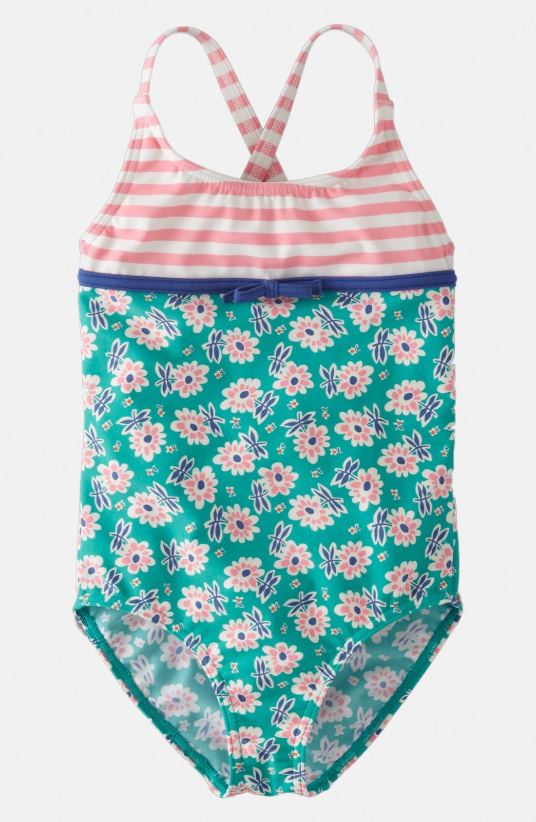 Alternate Image 1 Selected - Mini Boden 'Hotchpotch' One Piece Swimsuit (Toddler)
