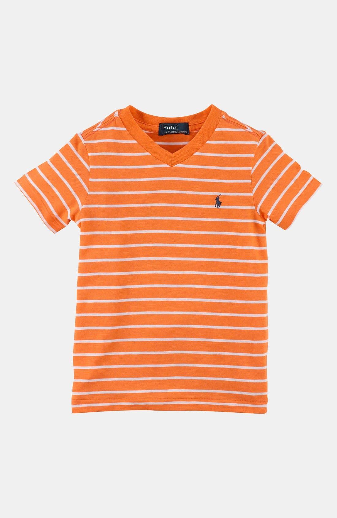 Main Image - Polo Ralph Lauren V-Neck T-Shirt (Toddler Boys)