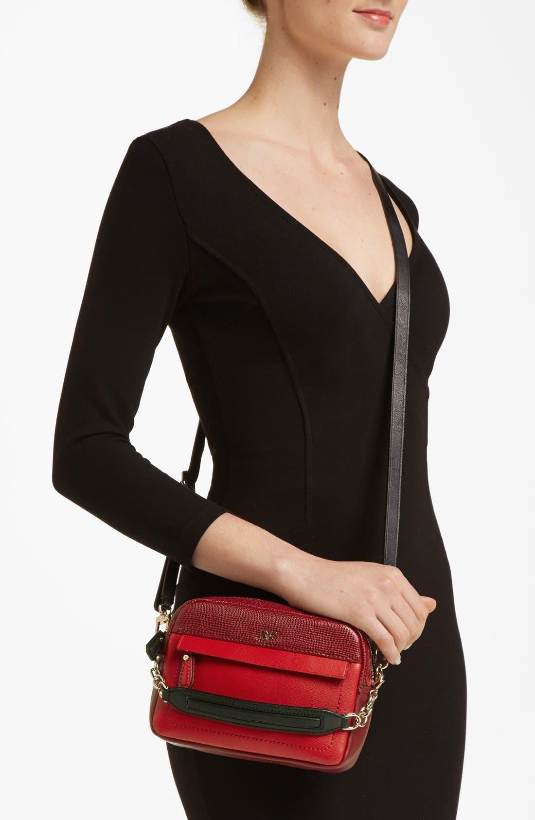 Alternate Image 2  - Diane von Furstenberg 'Milo - Mini' Lizard Embossed Crossbody Bag (Online Only)