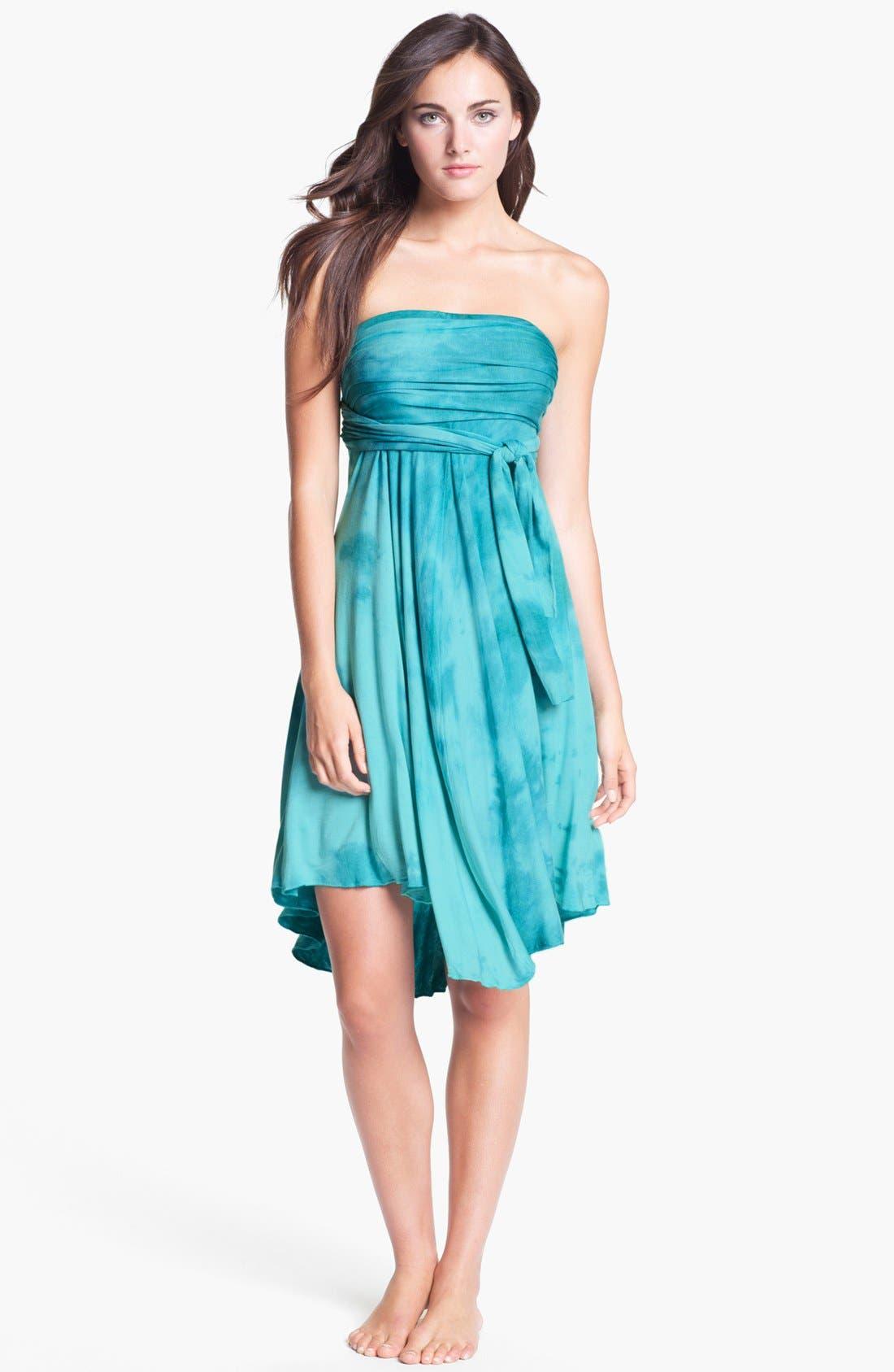 Main Image - Elan Tie Dye Convertible Cover-Up Dress
