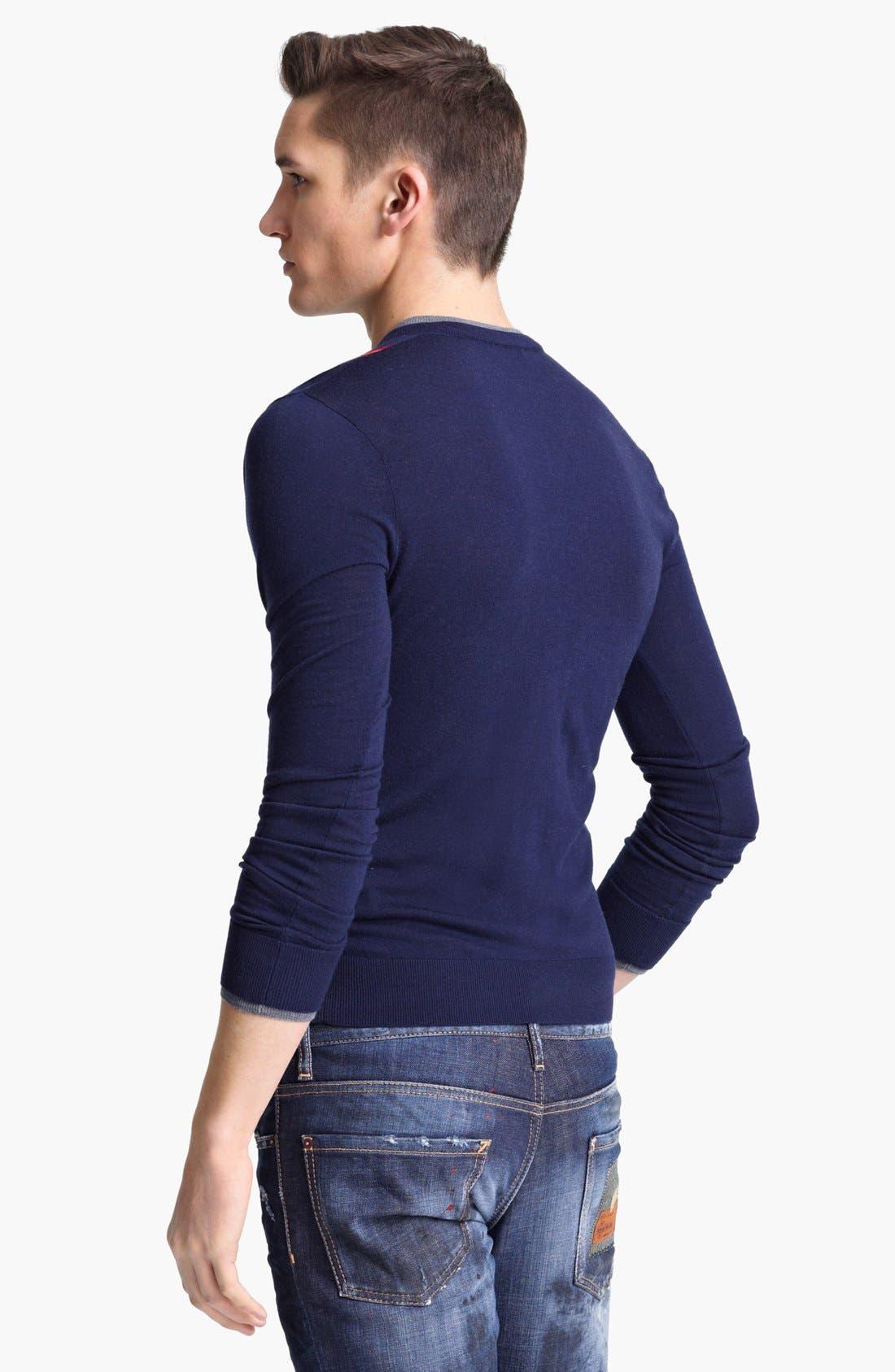 Alternate Image 2  - Dsquared2 V-Neck Wool Sweater