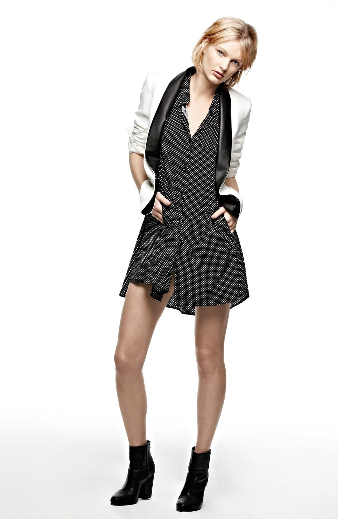 Alternate Image 6  - rag & bone Leather Trim Tuxedo Jacket