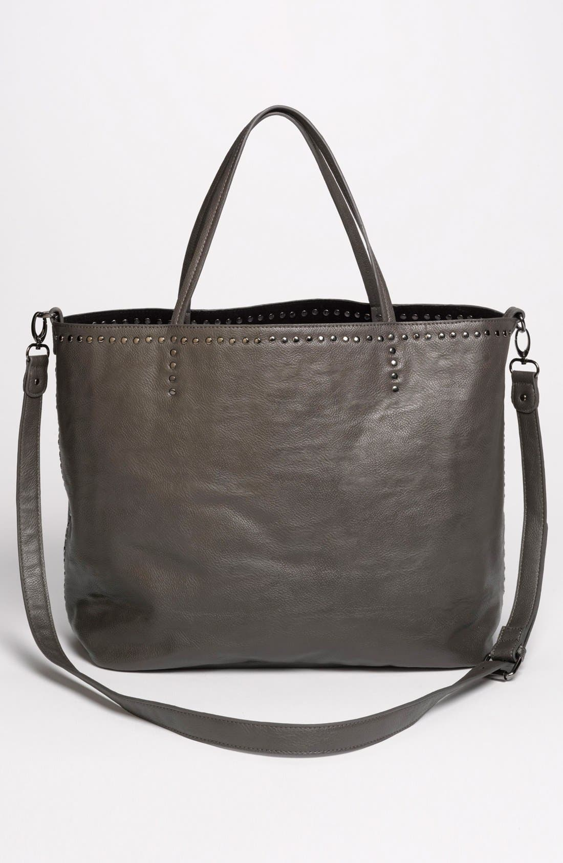 Alternate Image 4  - NB Handbags Studded Faux Leather Tote (Juniors)