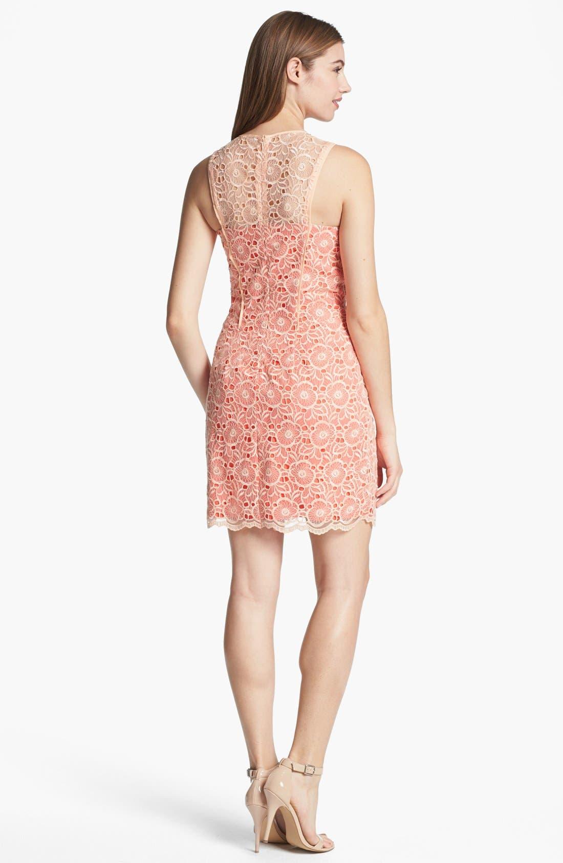 Alternate Image 2  - Jessica Simpson Lace Overlay Dress