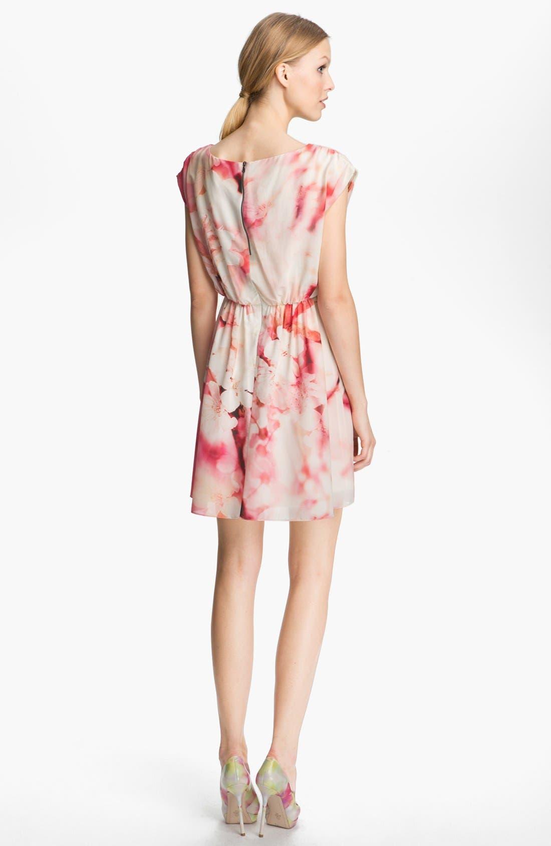 Alternate Image 2  - Alice + Olivia Print Cap Sleeve Dress