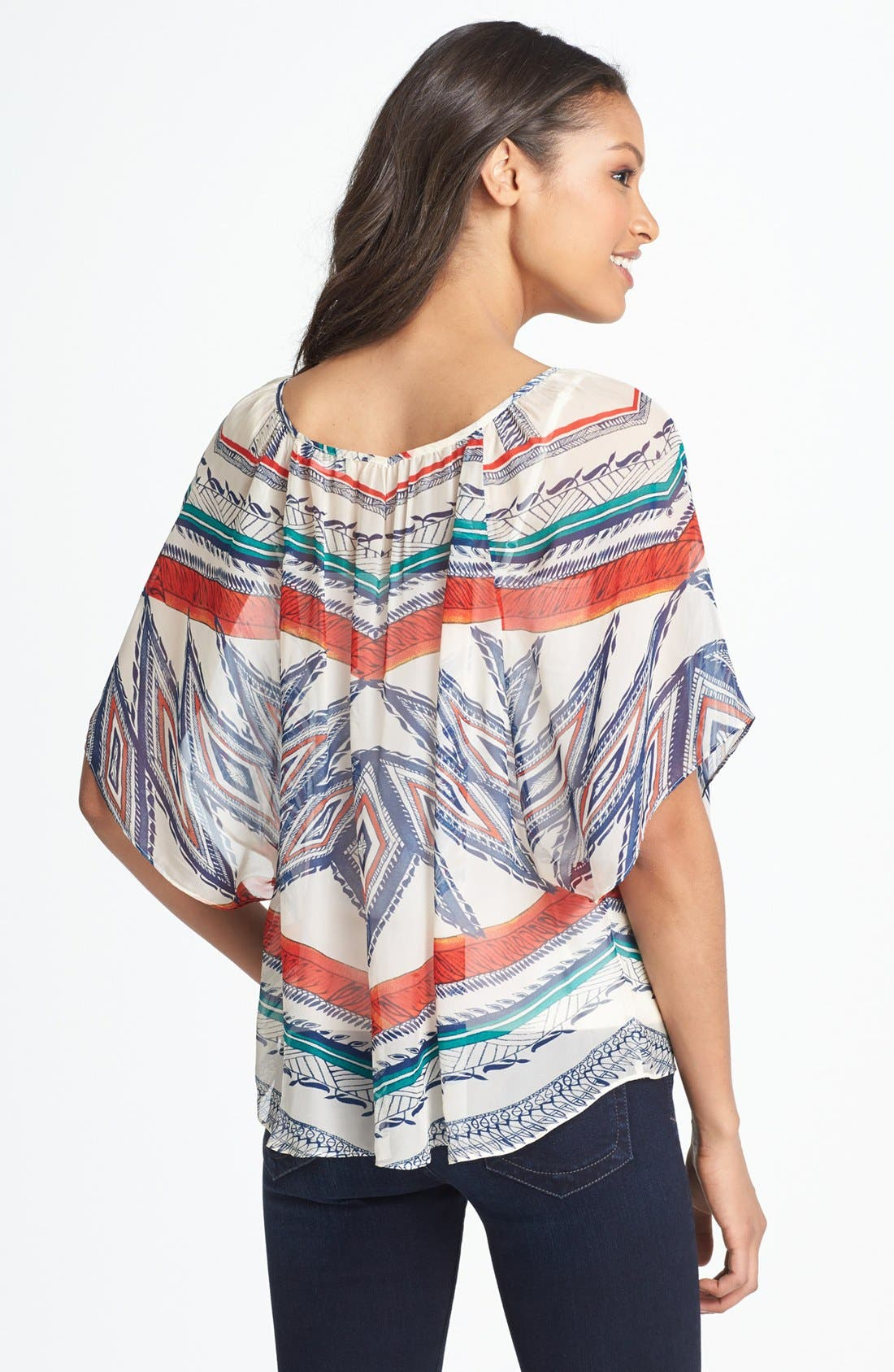 Alternate Image 2  - Lucky Brand 'Sardinia' Print Peasant Top