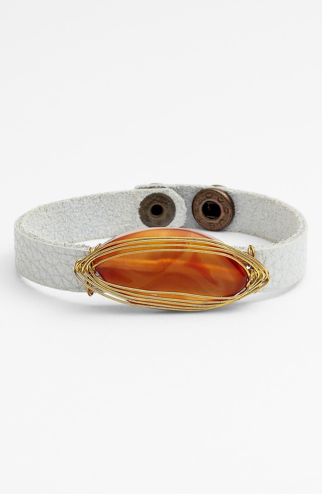 Main Image - Panacea Faux Leather Bracelet